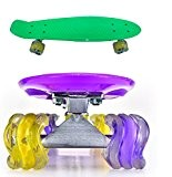 "22 "" SHARK WHEEL / ROUE VAGUE PENNY SKATE RÉTRO STYLE CRUISER PLANCHES À ROULETTES PATINAGE SKATEBOARD SKATE (VERT) ~ ..."