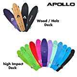 Apollo Fancy Board - Vintage Cruiser , Board complet | Taille: 22.5'' (57,15 cm) | Skateboard: petit et maniable| différentes ...