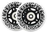 Cheetah Rippers White Cheetah Wheels For Ripstick Ripstik Wave Board Abec 9 76Mm 89A Outdoor by Cheetah