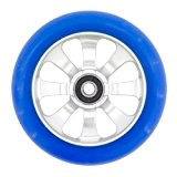 Fasen - Trotinette Freestyle Roue 8 Spokes Silver/blue Avec Roulements Abec 9 - Taille:110mm-88a - Silver/blue