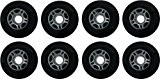 InLine Wheels - Blank 80 mm Black Lot de 8