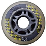 InLine Wheels - Explore Elan 76 mm Clear/Jaune Lot de 8