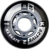 K2 72 mm Active Wheel Set de 4 Pack Roulettes, multicolore, Taille unique