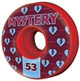 Mystery Authentics Skateboard Wheels (Red, 53mm)