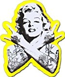Punk Marilyn Monroe Sticker pour skateboard, snowboard, Scooter, BMX, VTT, ordinateur portable, iPhone, iPod, Guitare, etc. (Jaune)
