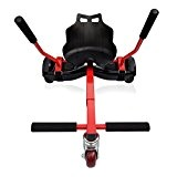 Rolab H1Hoverkart réglable Hover Gokart Assise pour 16,5cm deux roues Self Balancing Scooter Hoverboard Swegway (Rouge)
