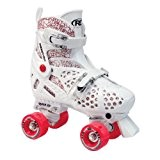 Roller Derby Trac Start Girls Rollers pour enfant Réglables Rose/Blanc