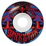 ROUES DARKSTAR (JEU DE 4) TRIPPY RED BLUE 52MM