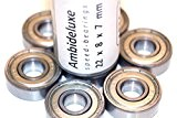 Roulements ABEC 7 - Speed Bearings 8x 608 ZZ - Roulements à billes de qualité pour Roller, Skateboard, Longboard , ...