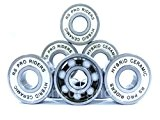 RS Pro Riders 608 2RS ABEC 9 Lot de 4 roulements de roue en céramique Largeur 8 x 22 x 7 mm ...