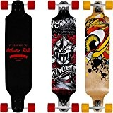 "SKATEBOARD LONGBOARD - ""Atlantic Rift"" conception Drop-Through - Roues ABEC 9"