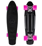 STAR-SKATEBOARDS® Vintage Cruiser Board ★ 22 pouce Diamant Edition ★ Couleur Noir & Berry