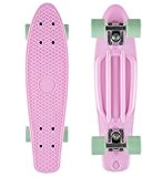 STAR-SKATEBOARDS® Vintage Cruiser Board ★ 22 pouce Diamant Edition ★ Couleur Rose & Menthe