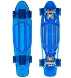 STAR-SKATEBOARDS® Vintage Cruiser Board ★ 22 pouce Transparent Edition ★ Couleur Bleu