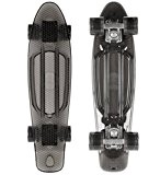 STAR-SKATEBOARDS® Vintage Cruiser Board ★ 22 pouce Transparent Edition ★ Couleur Noir